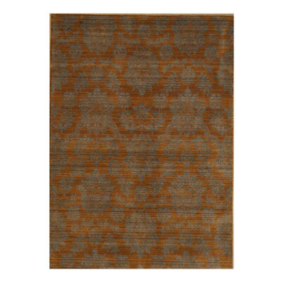 Jhumri Hand-woven Brown/Blue Area Rug