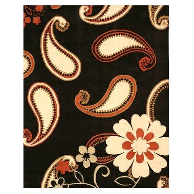 Jorhat Hand-Woven Black Area Rug