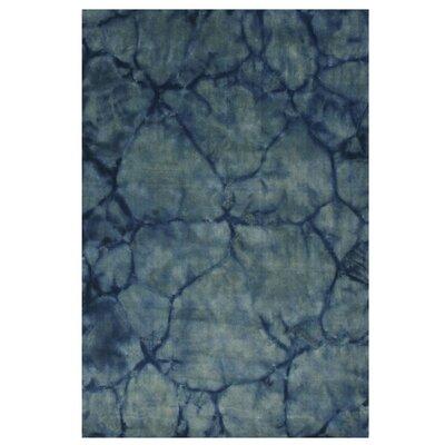 Kannur Hand-Woven Blue Area Rug