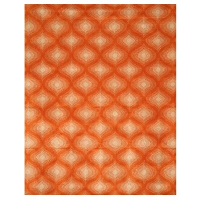 Karimganj Hand-Tufted Orange/Cream Area Rug