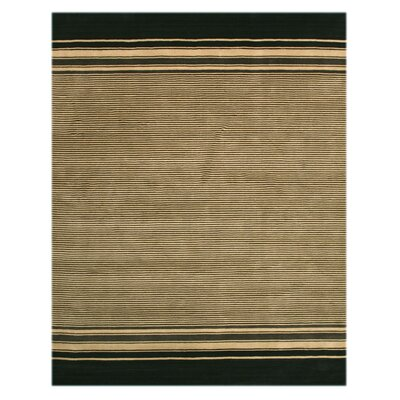 Karjat Hand-Woven Ivory/Black Area Rug