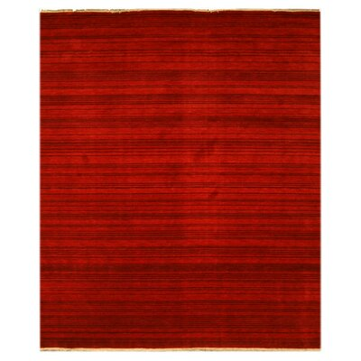 Karur Hand-Woven Red Area Rug Rug Size: Rectangle 9 x 12