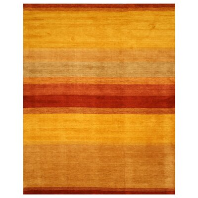 Kathua Hand-Woven Yellow/Rust Area Rug