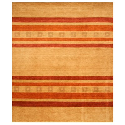 Kavali Hand-Woven Beige/Red Area Rug