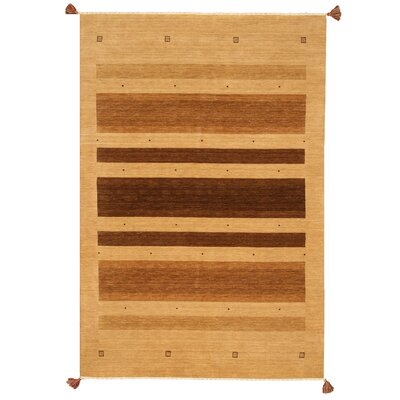 Kendrapara Hand-Woven Beige Area Rug