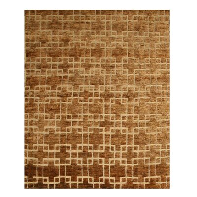 Kohima Hand-Knotted Brown Area Rug
