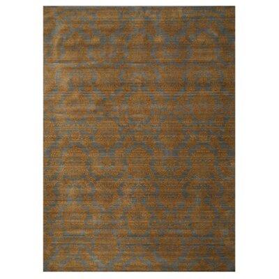 Kottayam Hand-Woven Brown Area Rug Rug Size: 53 x 76
