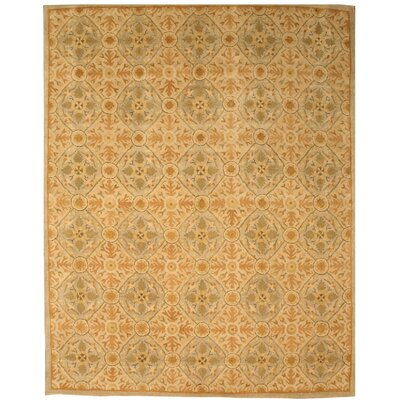 Kunnamkulam Hand-Tufted Ivory Area Rug Rug Size: Rectangle 7'9