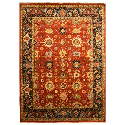 Manjlegaon Hand-Knotted Red/Brown Area Rug Rug Size: 12 x 18