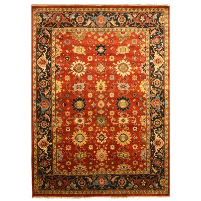 Lahar Hand-Knotted Rust Area Rug Rug Size: Rectangle 10' x 14'