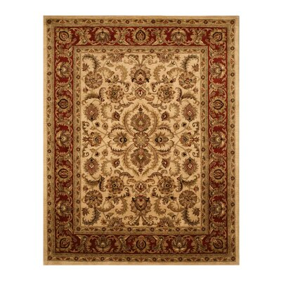 Laharpur Hand-Tufted Ivory Area Rug Rug Size: Rectangle 79 x 99
