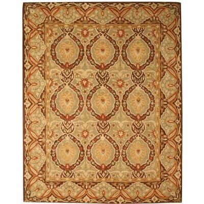 Lakhisarai Hand-Tufted Gold Area Rug Rug Size: 89 x 119