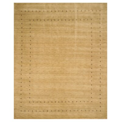 Dreher Hand-Woven Tan Area Rug Rug Size: Rectangle 9 x 12