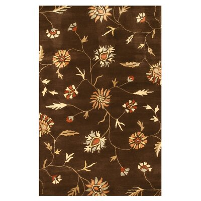 Lalgudi Hand-Tufted Brown Area Rug Rug Size: 4 x 6