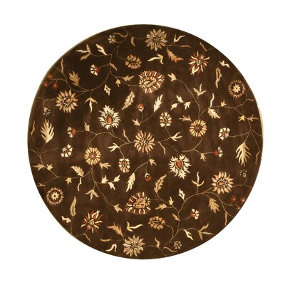 Lalgudi Hand-Tufted Brown Area Rug Rug Size: Round 76