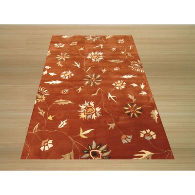 Lilong Hand-Tufted Red Area Rug Rug Size: 4 x 6