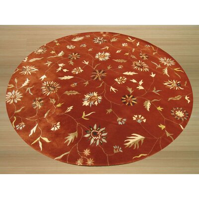 Lilong Hand-Tufted Red Area Rug Rug Size: Round 76