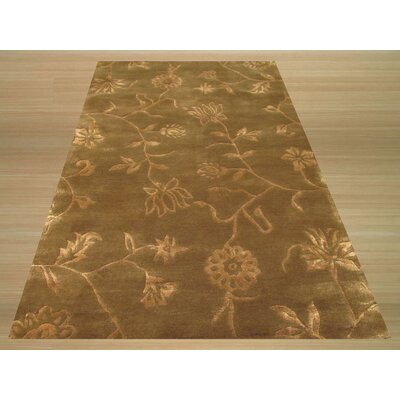 Limbdi Hand-Tufted Brown/Gold Area Rug Rug Size: 4 x 6
