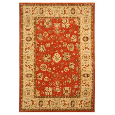 Lingsugur Hand-Woven Red Area Rug Rug Size: 53 x 76
