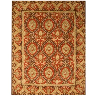 Loha Hand-Tufted Red Area Rug Rug Size: 89 x 119