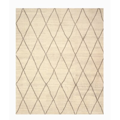 Longowal Hand-Knotted Beige Area Rug Rug Size: 10 x 14