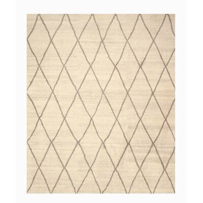 Longowal Hand-Knotted Beige Area Rug Rug Size: 9 x 12