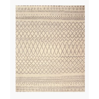 Losal Hand-Knotted Beige Area Rug