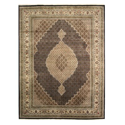Macherla Hand-Knotted Brown Area Rug Rug Size: 6 x 9