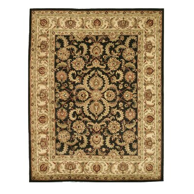 Madhubani Hand-Tufted Black Area Rug