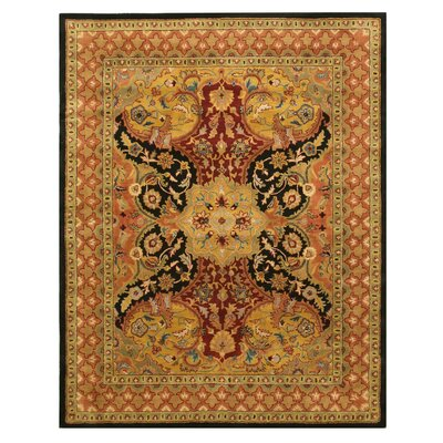 Madhupur Hand-Tufted Black Area Rug Rug Size: Rectangle 8 x 10