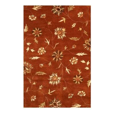 Maharajpur Hand-Tufted Red Area Rug