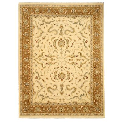 Mahe Hand-Knotted Beige Area Rug