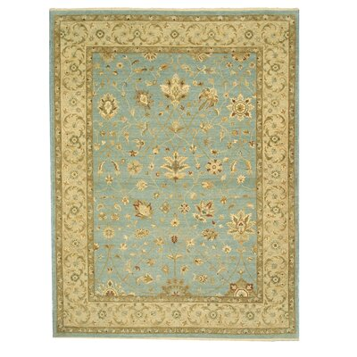 Mahnar Hand-Knotted Blue Area Rug