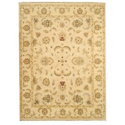 Maihar Hand-Knotted Brown Area Rug