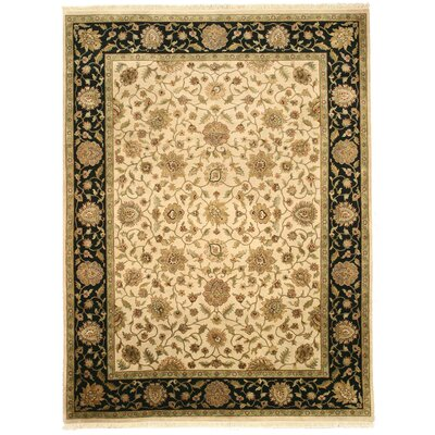 Makrana Hand-Knotted Beige Area Rug
