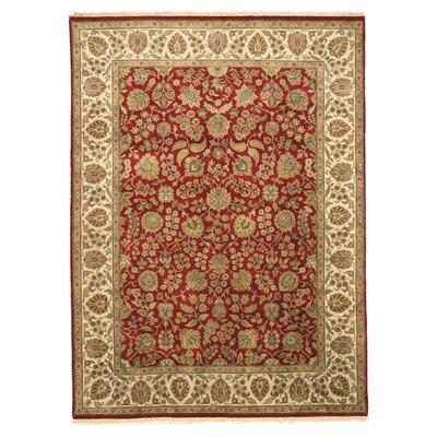 Malaj Hand-Knotted Red Area Rug