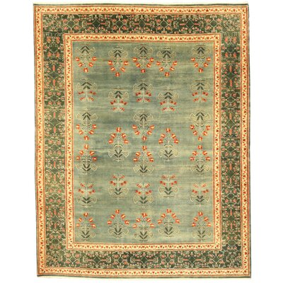 Khand Hand-Knotted Green Area Rug