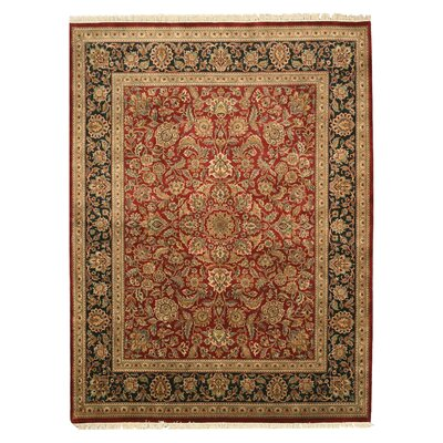 Malavalli Hand-Knotted Red Area Rug