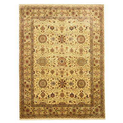 Malkangiri Hand-Knotted Brown Area Rug