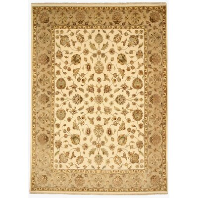 Malkapur Hand-Knotted Beige Area Rug