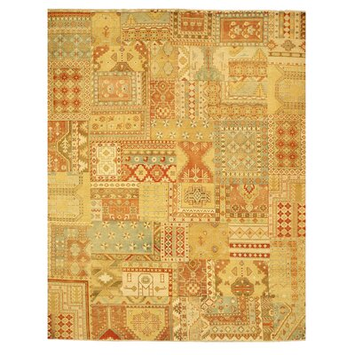 Malout Hand-Knotted Brown Area Rug