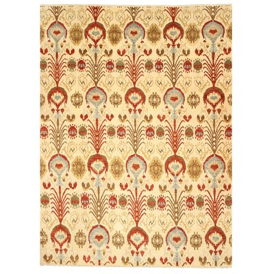 Malur Hand-Knotted Beige Area Rug