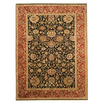 Manasa Hand-Knotted Black/Brown Area Rug