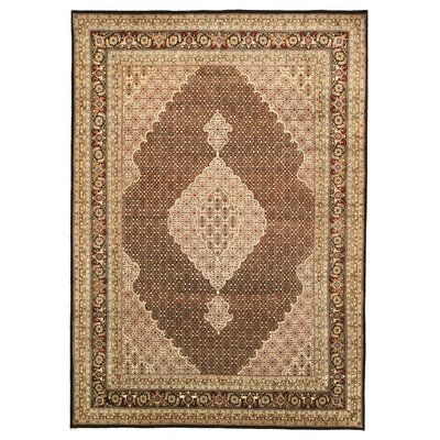Manavadar Hand-Knotted Brown Area Rug