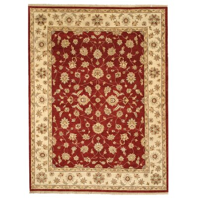 Mandalgarh Hand-Knotted Red/Beige Area Rug