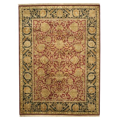 Mandawa Hand-Knotted Red Area Rug