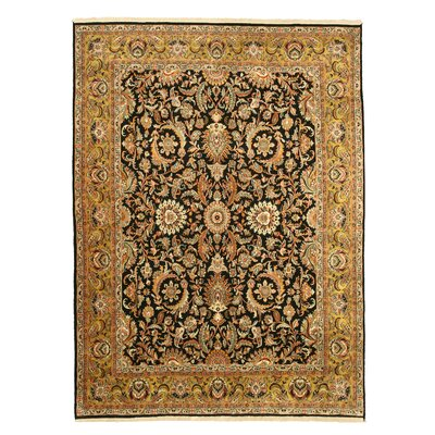 Mandi Hand-Knotted Brown Area Rug