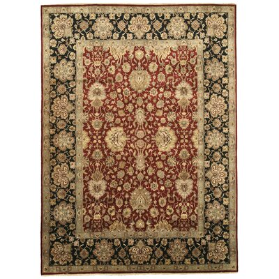 Mandideep Hand-Knotted Red Area Rug