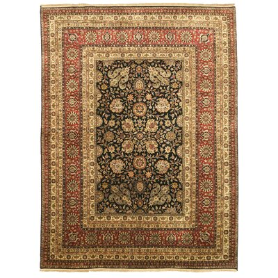 Mangalvedhe Hand-Knotted Brown Area Rug