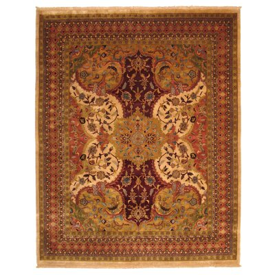 Manglaur Hand-Knotted Brown Area Rug